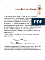 Titulaciones Aìcido - Base