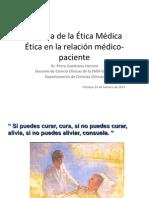 2da. clase Historia de la +ëtica M+®dica y +®tica en la relaci+¦n m+®dico paciente.