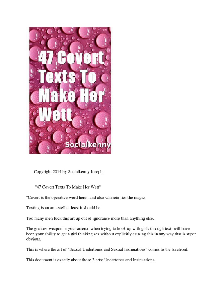 47 Covert Texts to Make Her Wett | Text Messaging