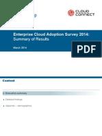 2014 Enterprise Cloud Adoption Survey
