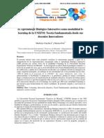 El Aprendizaje Dialógico Interactivo Como Modalidad B-learning de La UNEFM Teoría Fundamentada Desde Sus Docentes Innovadores