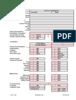 Filter Press Questionnaire