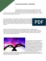 Poemas De Amor, Poemas Romanticos, Mensajes Romanticos