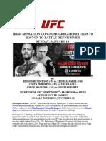 fight night mcgregor vs siver announcement