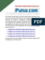Jualpulsa.com Jual Pulsa Online Murah Terpercaya