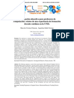 Investigación Educativa Para Profesores de Computación Relatos de Una Experiencia de Formación Docente Continua en La UNSL