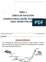 TEMA 4. LÍNEAS DE ADUCCIÓN (CONDUCTORAS, WATER TRANSMISSION  MAIS, WATER PIPE LINES).pdf