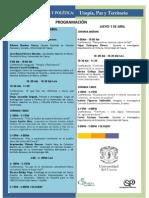 Programación v Coloquio Utopía, Paz y Territorio Abril 2 y 3 de 2014