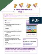 news letter 4 gr5 arabic b