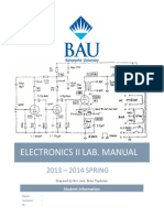 Electronics II Lab Manual