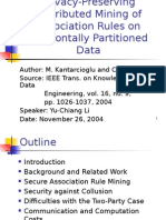 Association Rules on Horizontally Partitioned Data