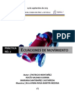 Ecuaciones de movimiento