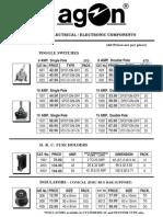 Agon Price List Wef 1-11-2013