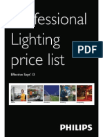 Philips Light Fixture Price List Wef 1-9-2013