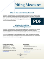 first author writing measures