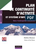Plan de Continuité d'Activité et Système d'Information