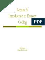 Entropy Coding