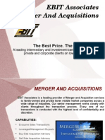 EBIT Associates Merger and Acquisitions