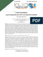 Propuesta Pedagógica Para La Integración de Las TIC en La Educación Secundaria