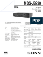 Sony MDS-JB920QS Service Manual