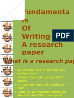 Fundamental of Writing a Research Proposal