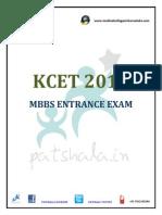 KCET 2015 MBBS Entrance  Exam