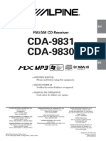 Alpine CDA9830 SERVICE MANUAL