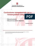 PRESENTACIO Dossiers Curriculums Primària i Secundària Govern