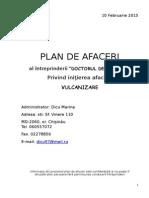 Plan de Afacere Vulcanizare Dicu Nicolae
