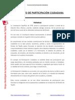 Proyecto Reglamento de Participación Ciudadana