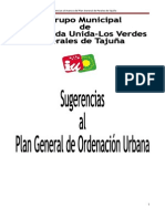 Alegaciones y sugerencias al Avance del PGOU de Perales de Tajuña 2015