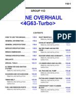 4G63 Turbo Engine Overhaul Manual GR00003400-11D