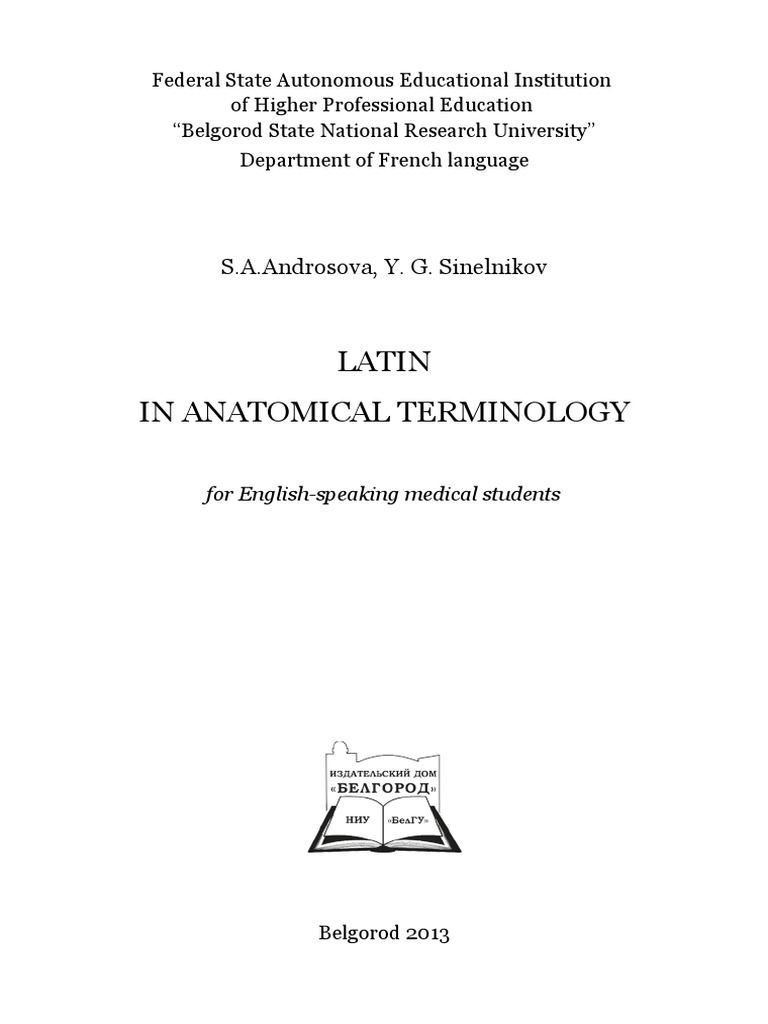 Anatomical Terminology | Syllable | Grammatical Gender