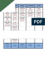 Raspored Za Drugi Semestar