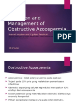 Detection and Management of Obstructive Azoospermia