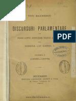 Discursuri Parlamentare-Titu Maiorescu