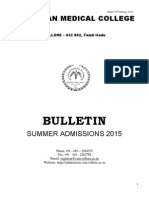 CMC Vellore Admission 2015 Information Brochure