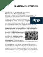 How Coarse Aggregates Affect Mix Design