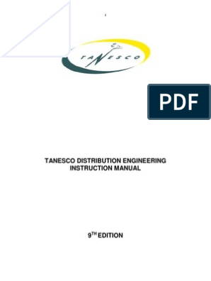 Tanesco Engineering Instruction Manual | Occupational Safety