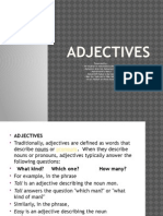 Adjectives t4