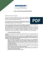 Contribution Au Plan Vélo Du Groupe UDI MODEM