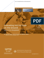 Evaluating Aid for Trade on the Ground Lessons From Bangladesh