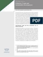 Fisheries, Trade and Sustainable Development Post-2015 Development Agenda Briefing Series