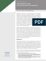 International Trade and Sustainable Development Post-2015 Development Agenda Briefing Series