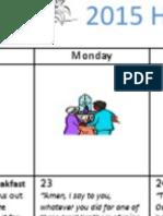 2015 Family Lent Calendar
