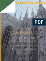 Cetatea Soarelui. Poezii Filosofice de Tommaso Campanella