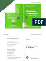 Le Corbusier - Mensaje a Los Estudiantes de Arquitectura PDF-libre