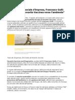 Francesco Gulli L'Impegno Di Novartis Vaccines Verso l'Ambiente