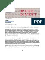 press release reduced signature threshold