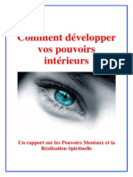 Comment Developper Son Pouvoir Intrieur